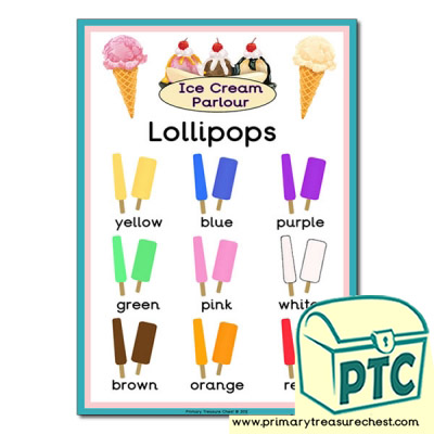 Lollipop  Colours Poster