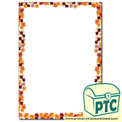 Autumn Leaves Page Border/Writing Frame (no lines)