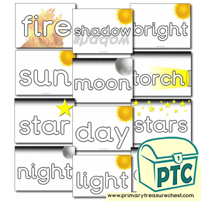 Day and Night themed Key Topic Words
