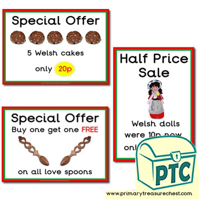 Welsh Gift Shop Special Offers (1-20p)