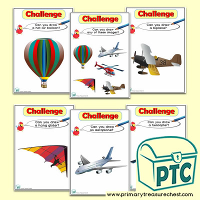 Air Transport Themed ICT Challenge Cards