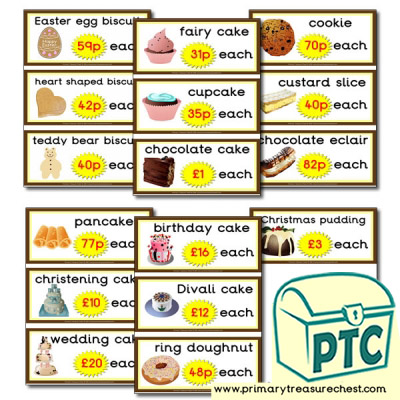 Role Play Cake Prices - 21p and Above