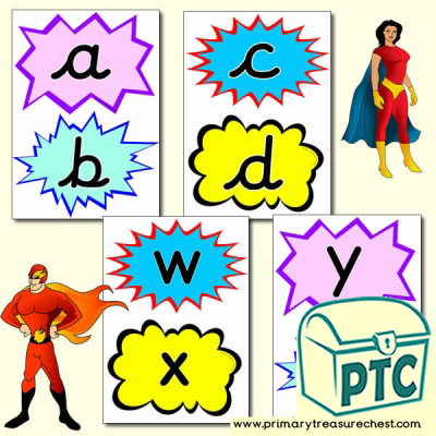 Superhero Themed Alphabet