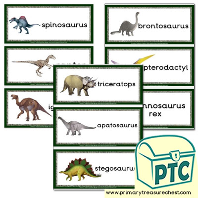 Dinosaur Themed Flashcards