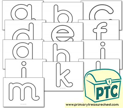 Alphabet Playdough Mats - Lower Case (A-M)