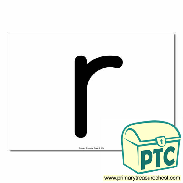 'r' Lowercase Letter A4 poster  (No Images)