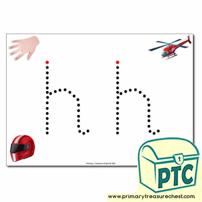 'h' Lowercase Letter Formation Activity - Join the Dots