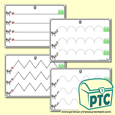'Gg Themed Pre-Writing Patterns Activity Sheets