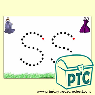 'ss' Double Letter Formation Activity - Join the Dots