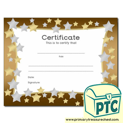 Star Themed Certificate