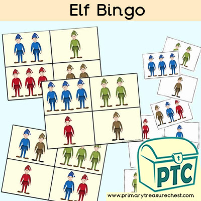 Elf Bingo Cards for Children