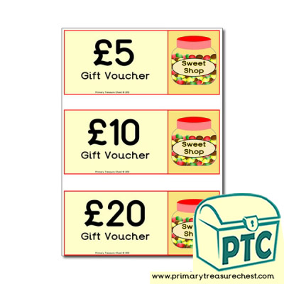 Sweet Shop Role Play Shopping vouchers