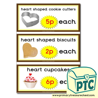 St. Valentine's Day Cake/Biscuit Prices Flashcards
