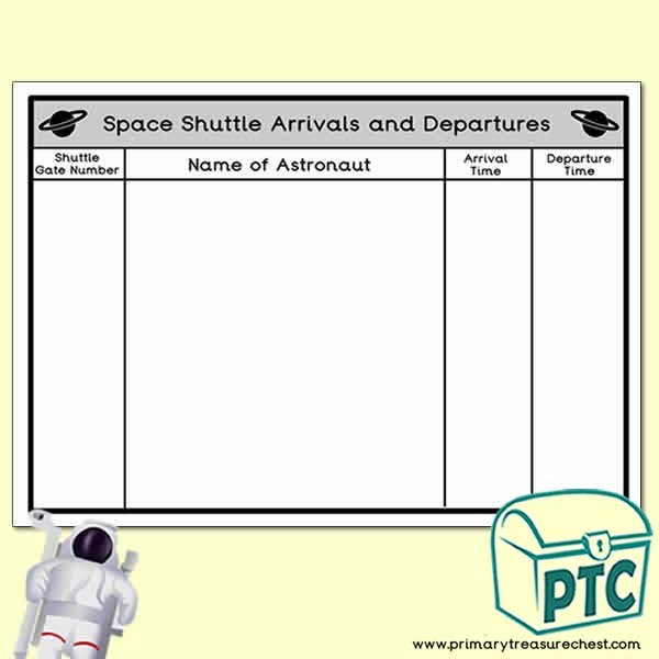 Space Shuttle Arrivals and Departues Poster