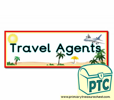 'Travel Agents' Display Heading / Classroom Banner