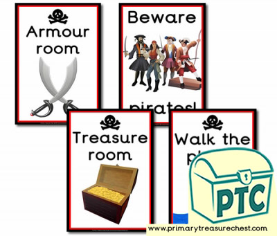 Pirate Role Play Signs