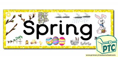 'Spring' Display Heading/ Classroom Banner