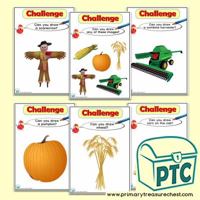 Harvest Themed ICT Challenge Cards