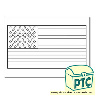 American Flag Colouring sheet