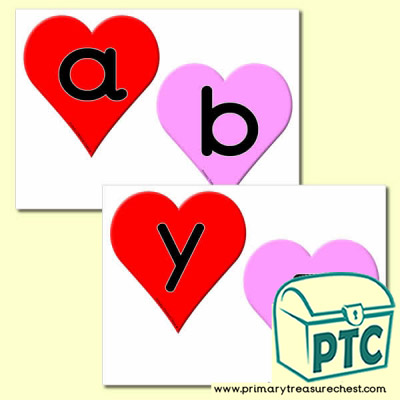 Heart Themed Alphabet Cards