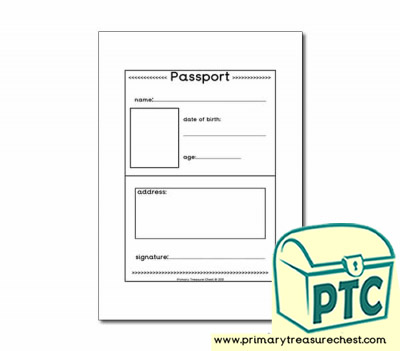 Travel Agents Passport Worksheet