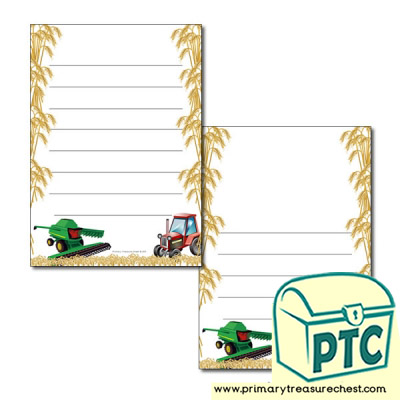 Harvesting Page Border/Writing Frame (wide lines)
