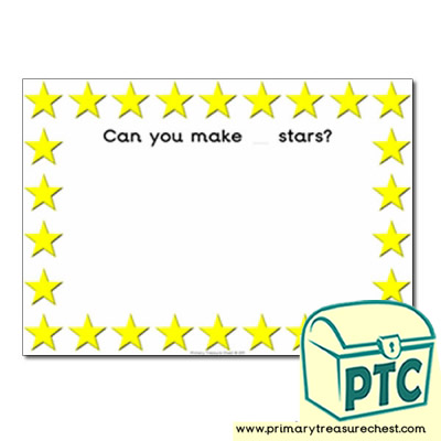 Stars Themed Playdough Mat
