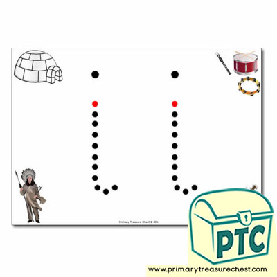 'i' Lowercase Letter Formation Activity - Join the Dots