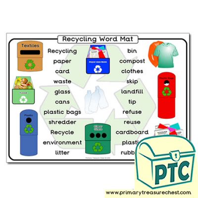 Recycling Themed Word Mat