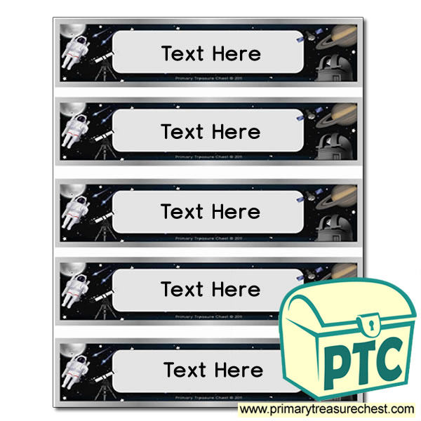 Free Astronomy Themed Pupil Drawer Labels (Small)