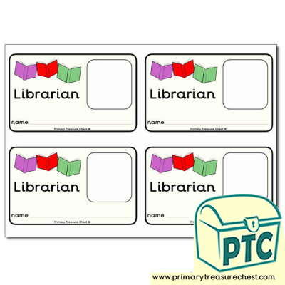 Role Play Library Staff Identification Card