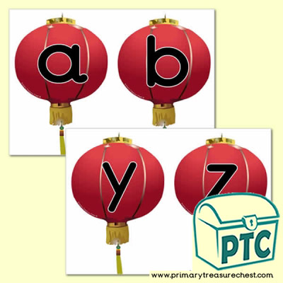 Chinese Lantern Themed Alphabet Cards