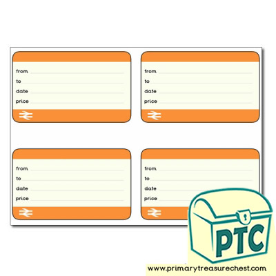 Role Play Train Tickets