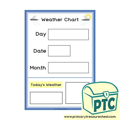 Weather Chart A3 Poster