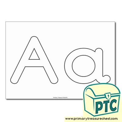 'Aa' Upper and Lowercase Bubble Letters A4 Poster - No Images.