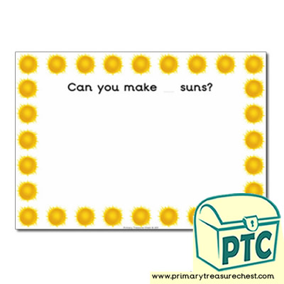 Sun Themed Playdough Mat