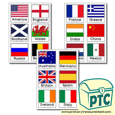 Flag Matching Cards