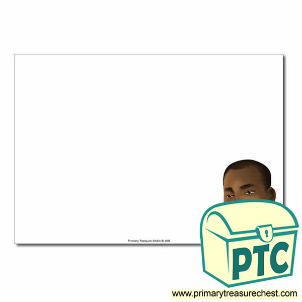 Martin Luther King Jr Themed  Landscape Page Border/Writing Frame (no lines)
