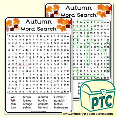 A4 Autumn Word Search (Hard)