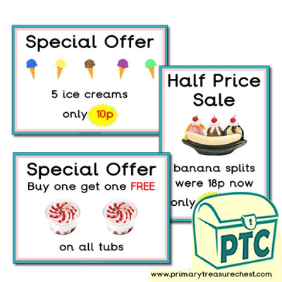 Ice Cream Parlour Special Offers 1-20p
