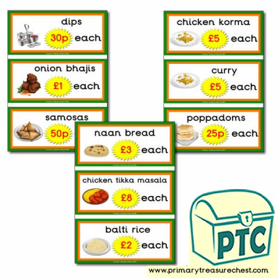 Indian Restaurant Role Play Prices (21p-£99)
