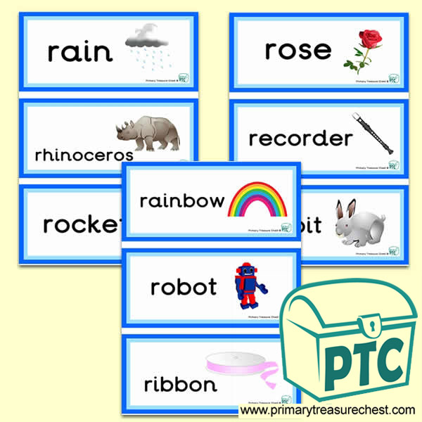 Letter 'r'  Themed Flashcards