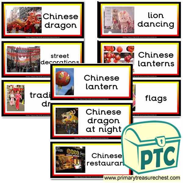 Chinese New Year Themed Flashcards with Photos