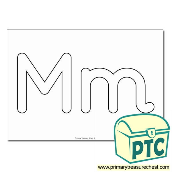 'Mm Upper and Lowercase Bubble Letters A4 Poster - No Images.