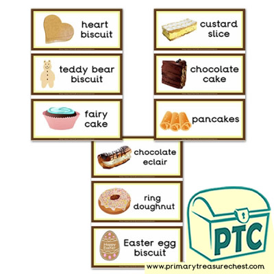 Cakes and Biscuits Flashcards