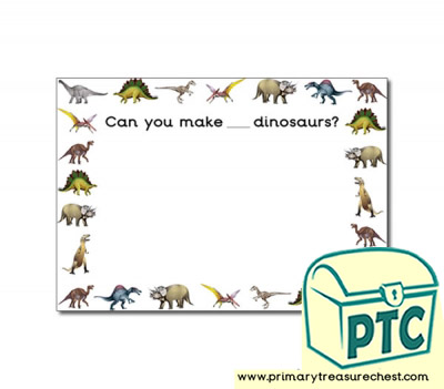 Dinosaur Themed Number Playdough Mats