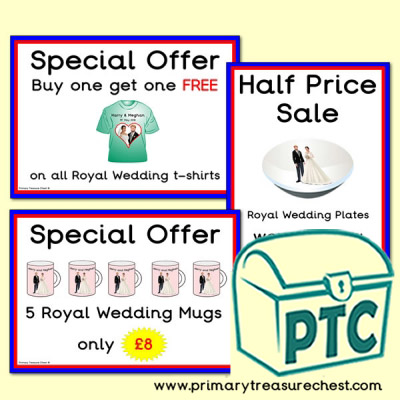 London Gift Shop Royal Wedding Offers (21p to £99)