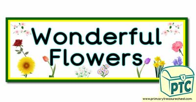 'Wonderful Flowers' Display Heading/ Classroom Banner