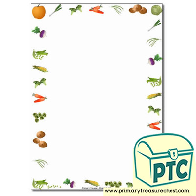 Vegetable Themed Page Borders/Writing Frames (no lines)