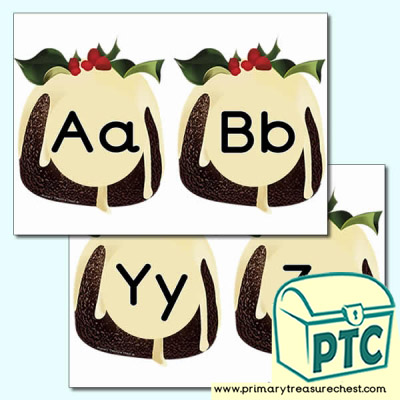 Christmas Pudding Alphabet